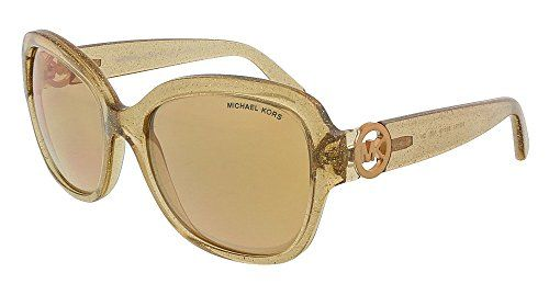 f81691f4751f Michael Kors Womens Tabitha III Taupe GlitterRose Gold Flash Sunglasses >>>  Visit the image link more details.
