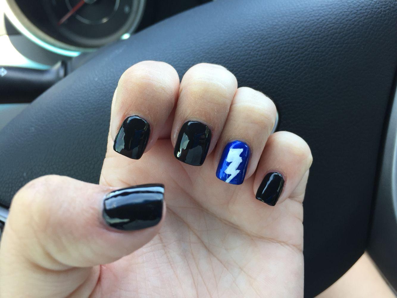 Tampa bay lightning nails | Tampa bay Lightning | Pinterest ...
