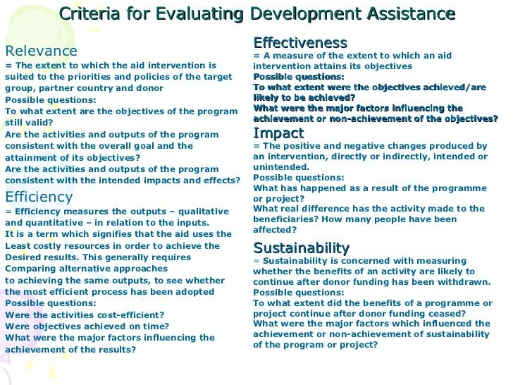 Project Evaluation Criteria List  GoogleSgning  Theory Of Change