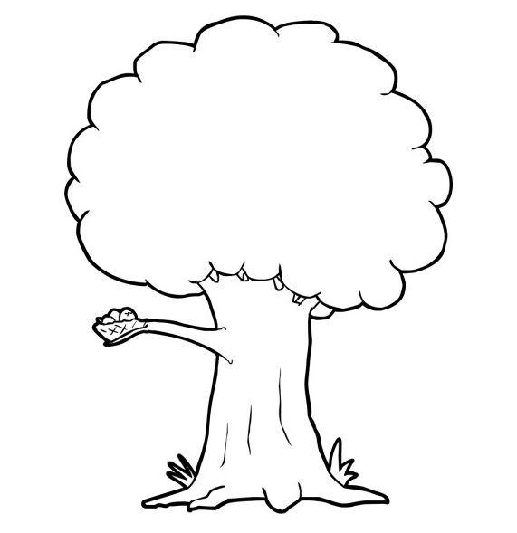 Mewarnai Gambar Pohon Sekolah Minggu Pinterest