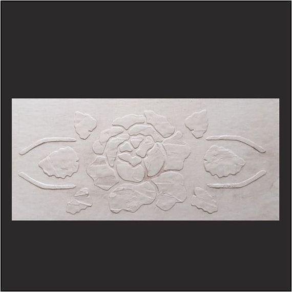 Murale au pochoir, pochoir, pochoir meubles, Abbey Rose en plâtre