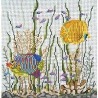 Fish Eyes - needlept.com.  Remember fancy border on the one at Orchid?