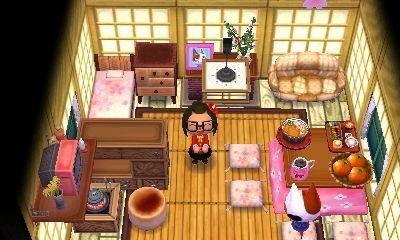 Purrl S Kotatsu Sakura Room 3 Jijiji Zen And Pink Again Animal Crossing Game Animal Crossing Animal Crossing 3ds