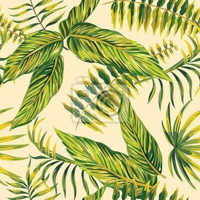 Papier Peint La peinture tropicale de fond sans soudure u2022 Pixers - Poser Papier A Peindre