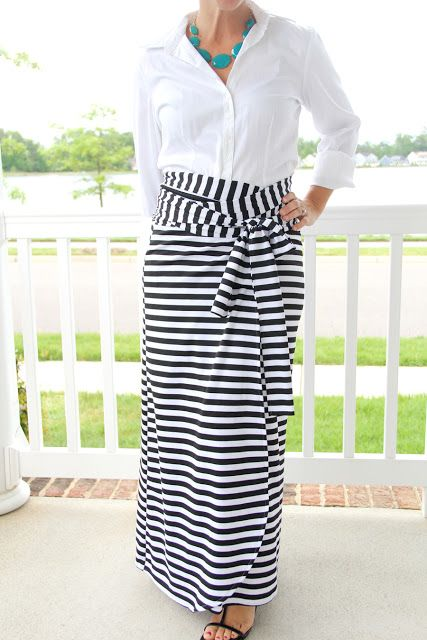 Tutorial Tuesday :: Wrap Maxi Skirt from The Sewing Rabbit ...