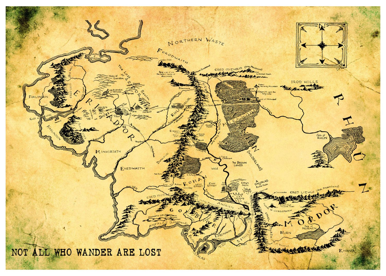 Map of Middle Earth 16x20 Hobbit Print Poster. $19.95, via Etsy ...