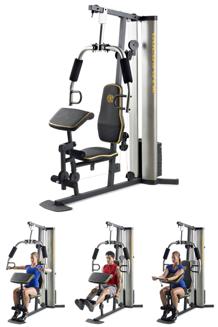 Get Full Body Strength Training At Home With The Gold S Gym Xrs 55 Home Gym System The 125lb Weight Stack Offers Up To At Home Gym Home Workout Equipment Gym
