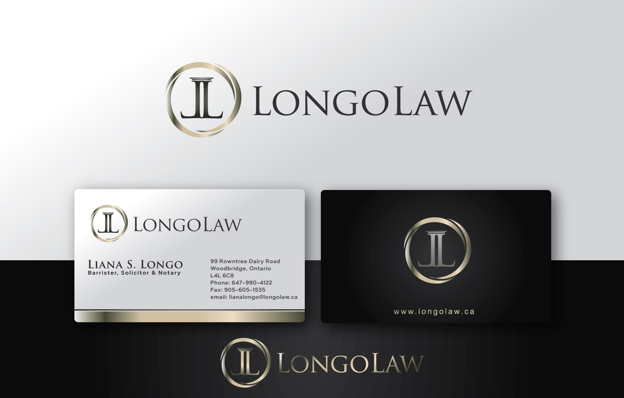 Logo and business card for liana s longo lawyer longo law 99 logo and business card for liana s longo lawyer longo law 99 rowntree magicingreecefo Image collections