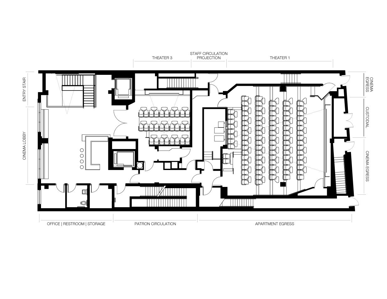 Small cinema plan szukaj w google theatre cinema for Multiplex floor plans