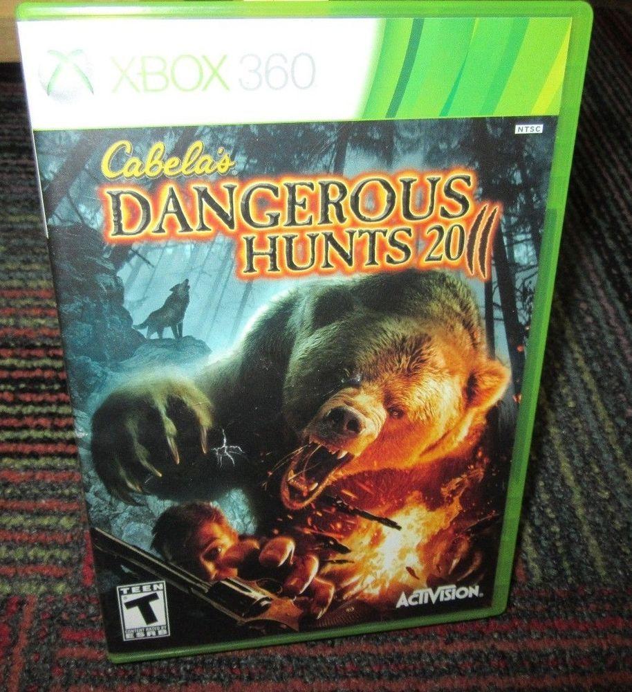 Cabela S Dangerous Hunts 2011 Game F Microsoft Xbox 360 Case Game Manual Activision Xbox Cabelas
