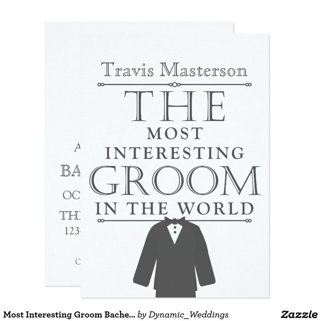 Most Interesting Groom Bachelor Party Invite | Bachelor parties ...