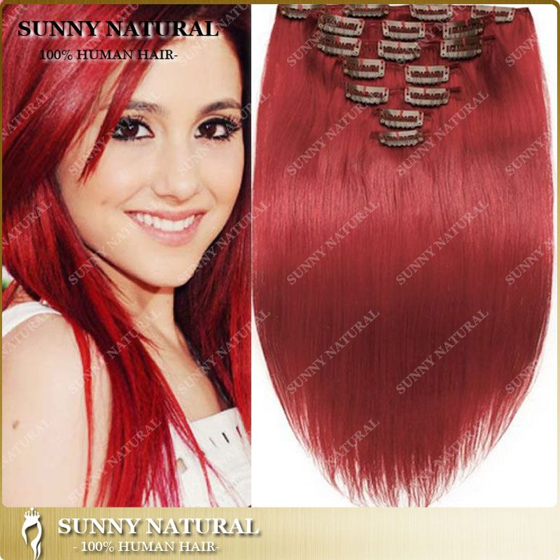 Find More Human Hair Extensions Information About Red Hair On Clip
