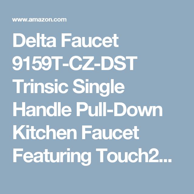 Delta Faucet 9159T-CZ-DST Trinsic Single Handle Pull-Down Kitchen ...
