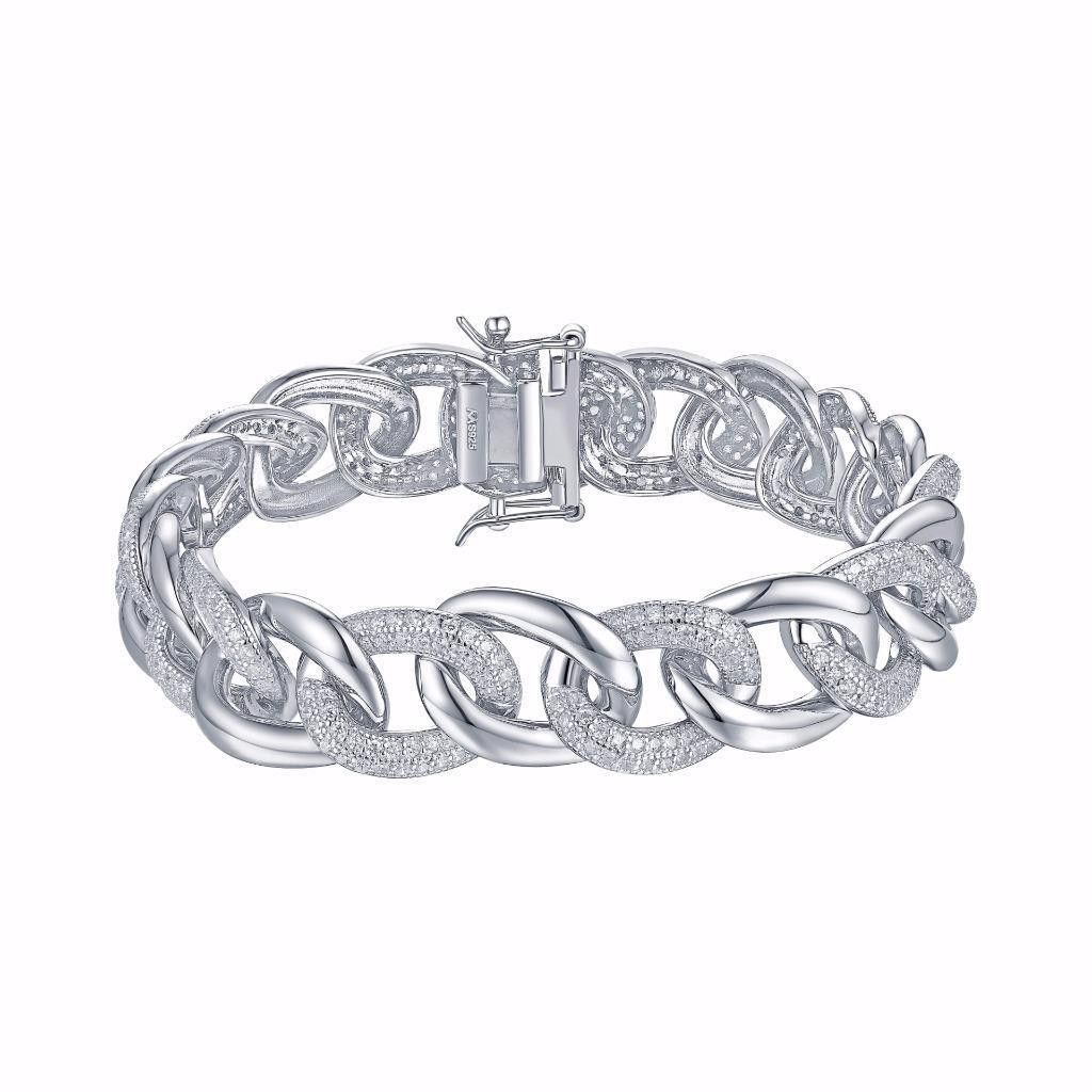c6e786780d706 Miami Cuban Link Bracelet White Gold Over 925 Silver | Jewelry ...