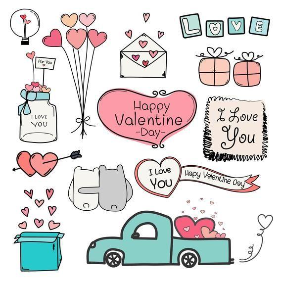 Pin By Karolina Vojteska On Tafel In 2021 Valentine Doodle Valentine Clipart Valentines Day Drawing