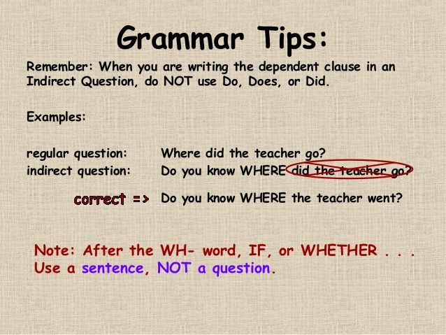 Indirect Questions Ppt Slides This Or That Questions Grammar Tips Ppt