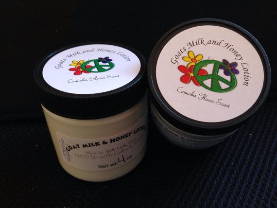 Goats Milk and Honey Lotion-Cannabis Flower Scent- 4oz on Etsy, $6.00