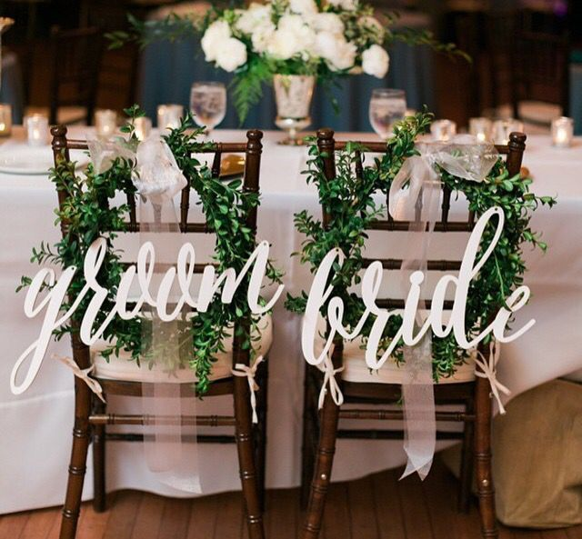 Beautiful bride and groom signs can be used in many unique ways. Create your special look with Inscribed Monograms! https://www.etsy.com/shop/inscribedmonograms?ref=hdr_shop_menu