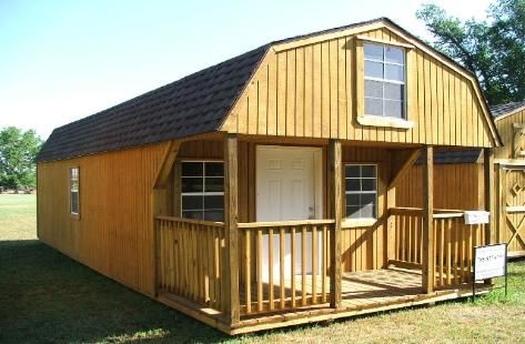 Sheds that look like houses lofted cabin for Barn home builders near me