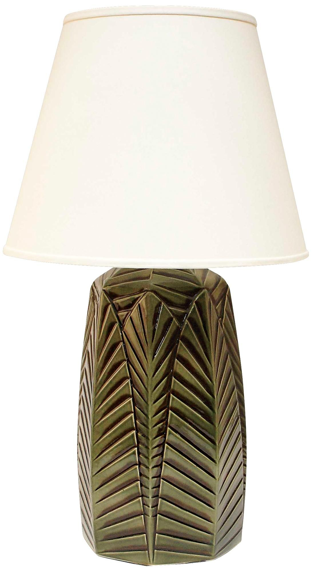 Haeger Potteries Palm Grove Ceramic Table Lamp P1789 Lamps Plus Ceramic Table Lamps Pottery Lamp