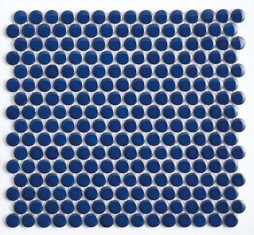 Penny Round Tile Cobalt Blue Cobalt blue Cobalt and Kitchen