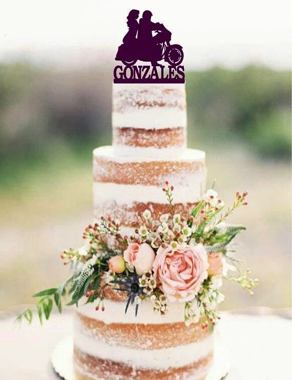 Wedding Cake Topper with surname Motorcycle Cake Topper Custom wedding cake topper Motorcycle Wedding Cake Topper with surname Motorcycle Cake Topper Custom wedding cake...