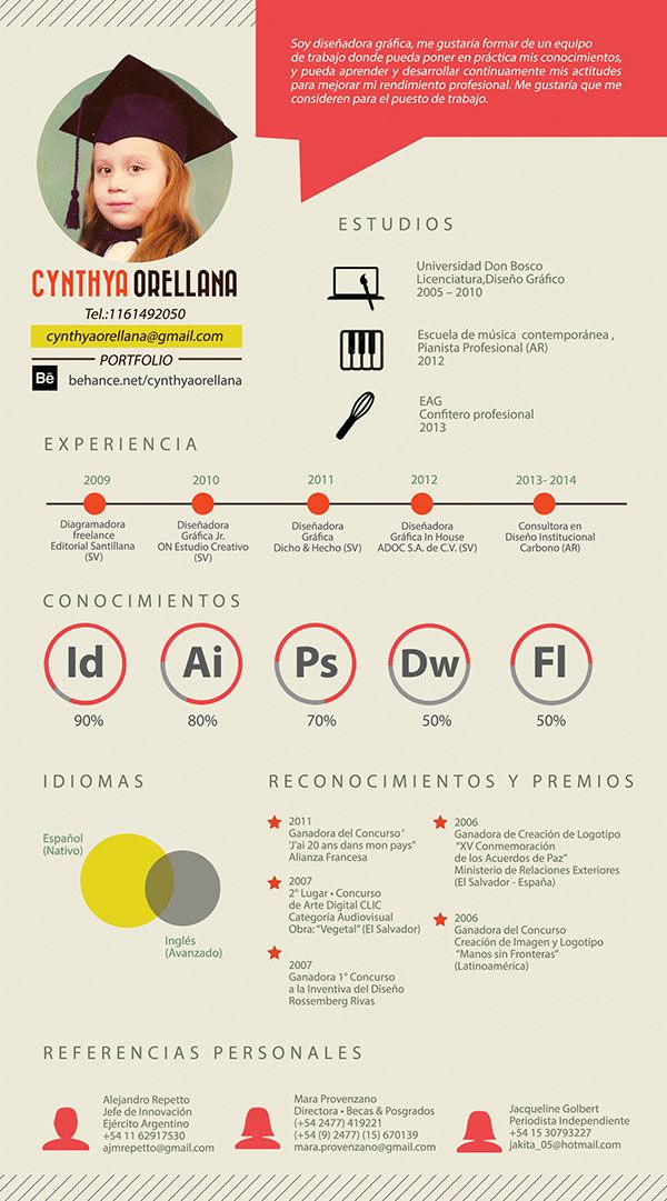 cv infographie template