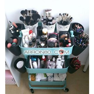 Turn An Ikea Raskog Utility Cart Into A Vanity On Wheels It S Great Could Go Anywhere Since