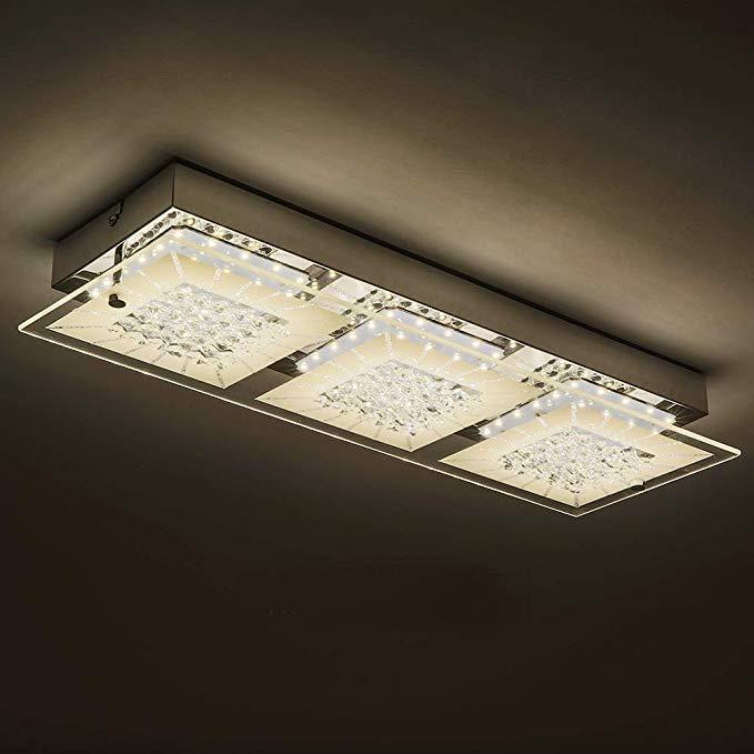 Led Wall Light Fixture With 3 Light Auffel Minimalist Vanity Ceiling Vanity Light Dimmable Semi F Led Ceiling Light Fixtures Led Ceiling Lights Ceiling Lights