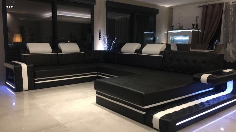 Designer Sofa Imperial Xxl Mit Led Beleuchtung In 2019 Luxury