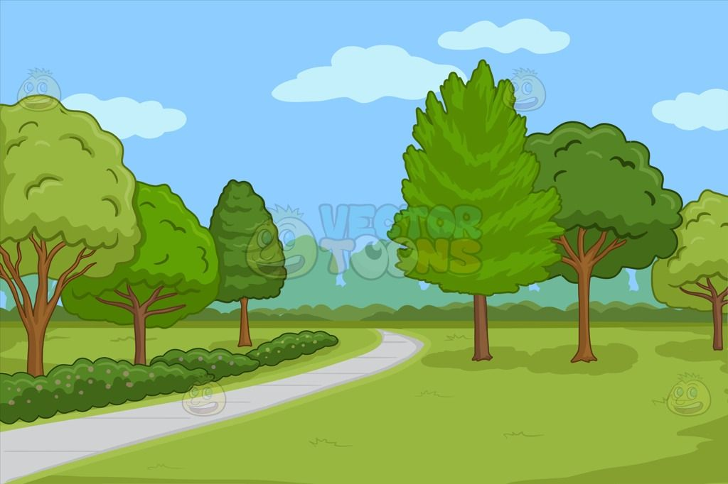 a pretty park with walking path background | pavement