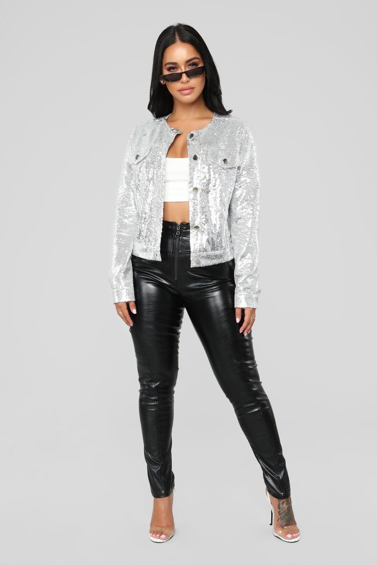 dcd03182f88c9 Star Chaser Sequin Jacket - Silver Blazers For Women, Coats For Women,  Sequin Jacket