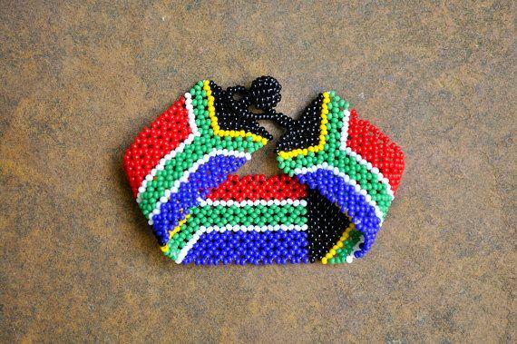 South African Beaded Bracelet Africa Flag By Akwaabaafrica