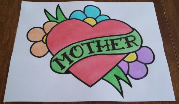 Coloring Pages March : Mothers day coloring pages print and customize for mom