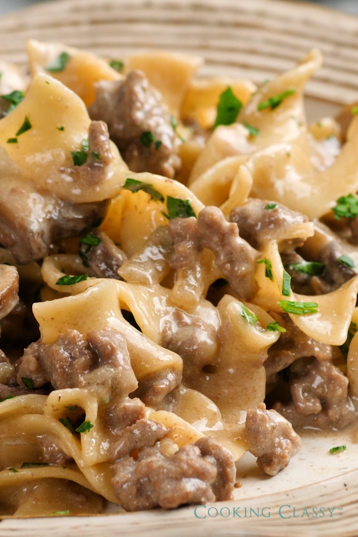 ONE POT BEEF STROGANOFF images