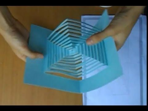 16 Pop Up Amazing Convergence Stair Card Tutorial Origamic Architecture Card Tutorial Pop Cubes Paper Crafts