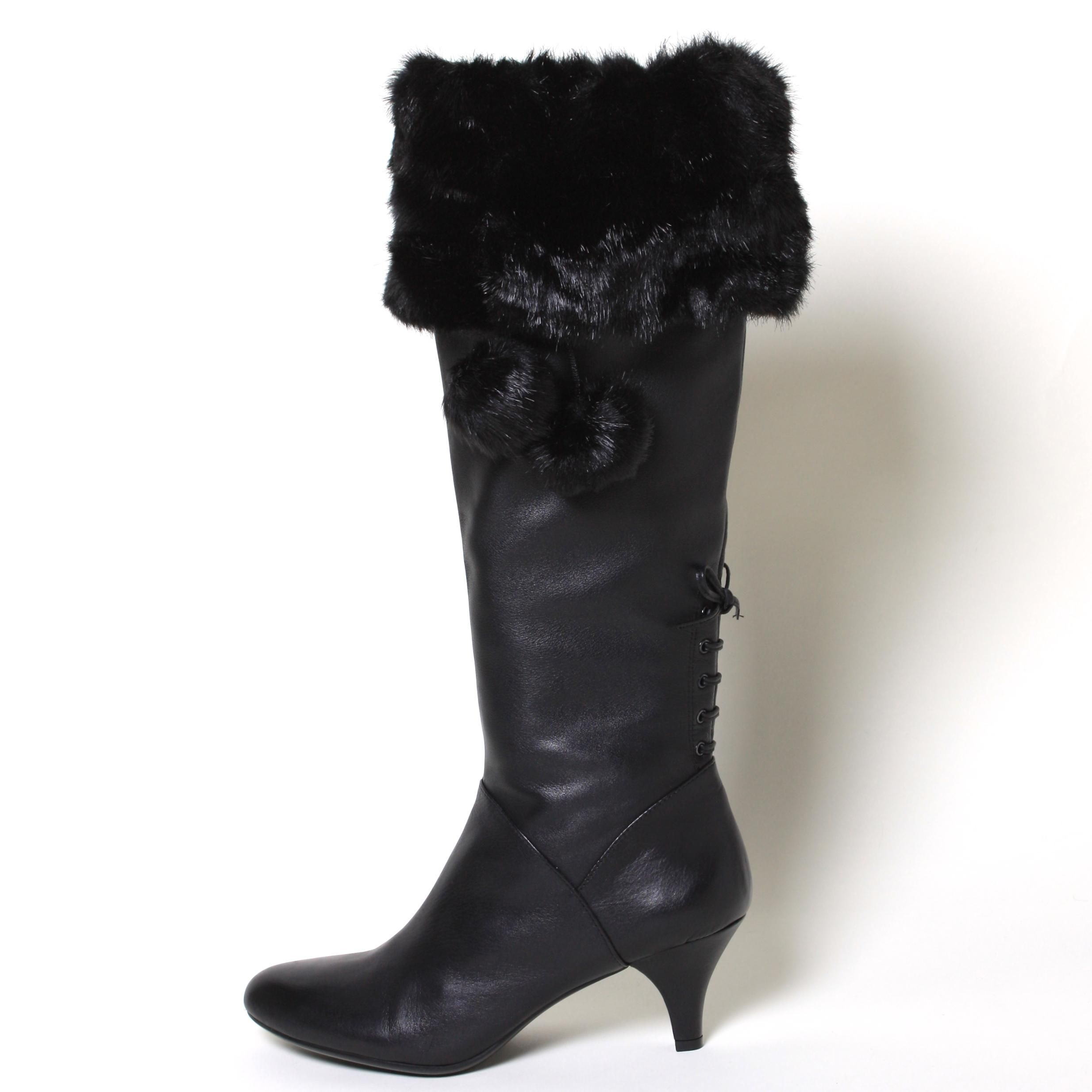 Must have winter accessory - Black Mink Faux Fur Boot Toppers from Top of the Boot. www.mytopoftheboot.com