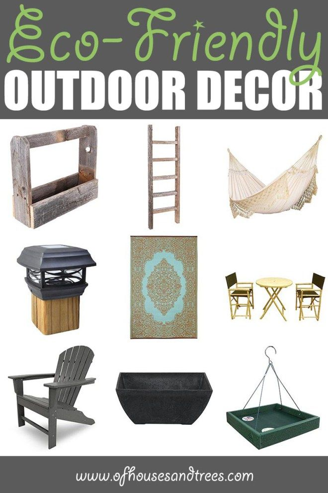 Eco-Friendly Outdoor Decor by Of Houses and Trees | The most important place in your home to be eco-friendly isn't even in your home. It's outside! Here are nine green outdoor decor items to make earth smile. Click through to read more on this project as well as posts about architecture, interior design and sustainability at www.ofhousesandtrees.com.