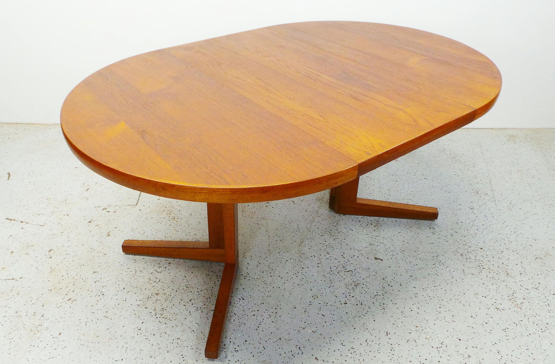 Mid Century Danish Modern Round Teak Expanding Dining With Etsy Danish Modern Table Teak Dining Table Dining Table With Leaf [ 1968 x 3000 Pixel ]