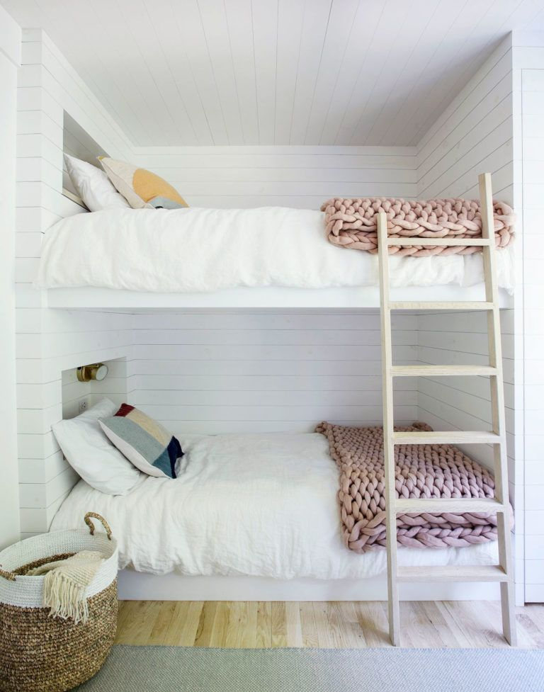 Best Scandinavian Inspired White Washed Kids Bunk Beds 400 x 300