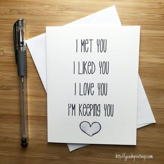 Cute Love Card Anniversary Card Love Greeting Cards