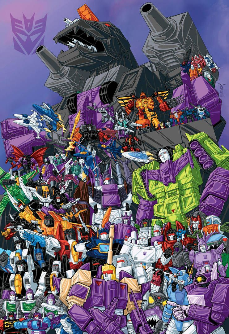 100 Decepticons G1 colored by artrobot9000 Transformers