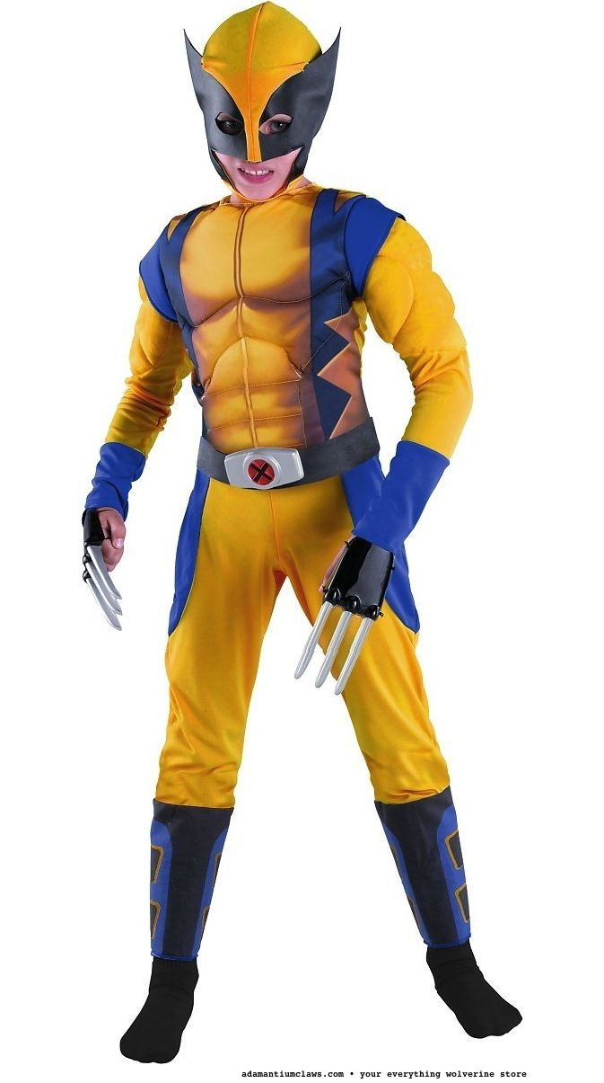 Wolverine Origins Classic Muscle Costume - Large For this and more Wolverine costumes check out adamantiumclaws.com #wolverinestuff #wolverinesuit ...  sc 1 st  Pinterest & Wolverine Origins Classic Muscle Costume - Large For this and more ...