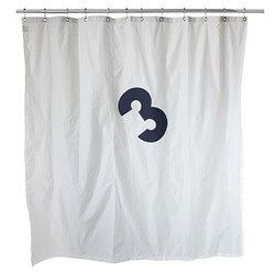 Recycled Sailcloth Shower Curtain No Plastic No Busy Patterns