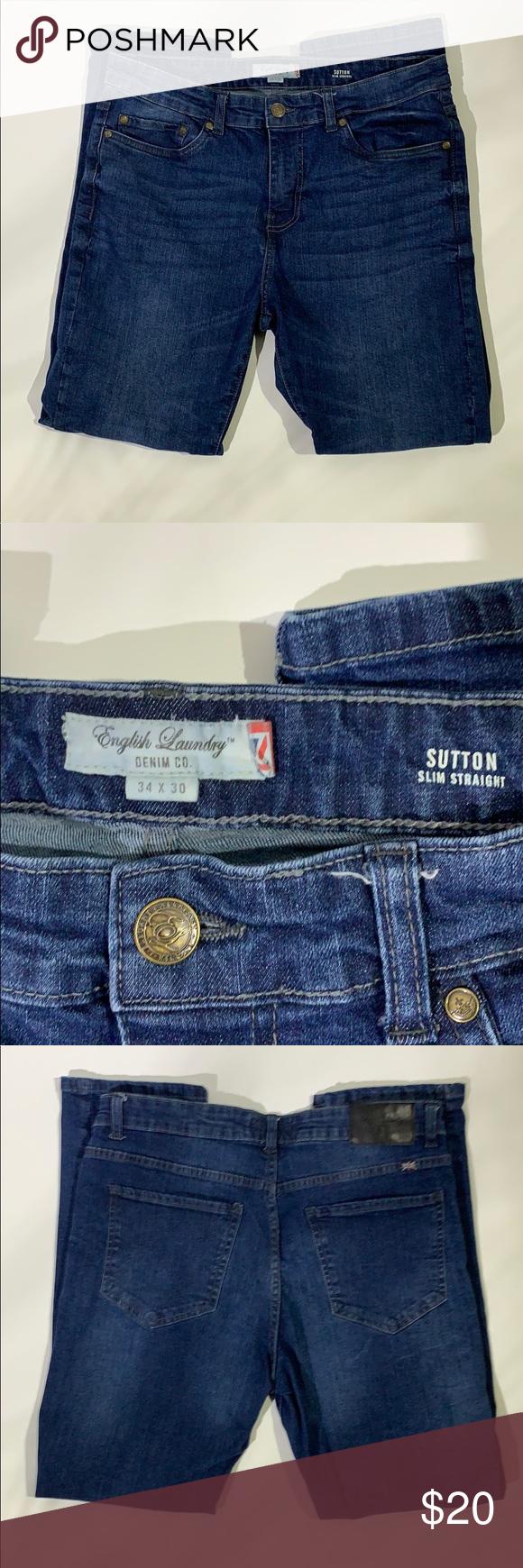 English Laundry Sutton Slim Straight Jeans Slim Straight Jeans