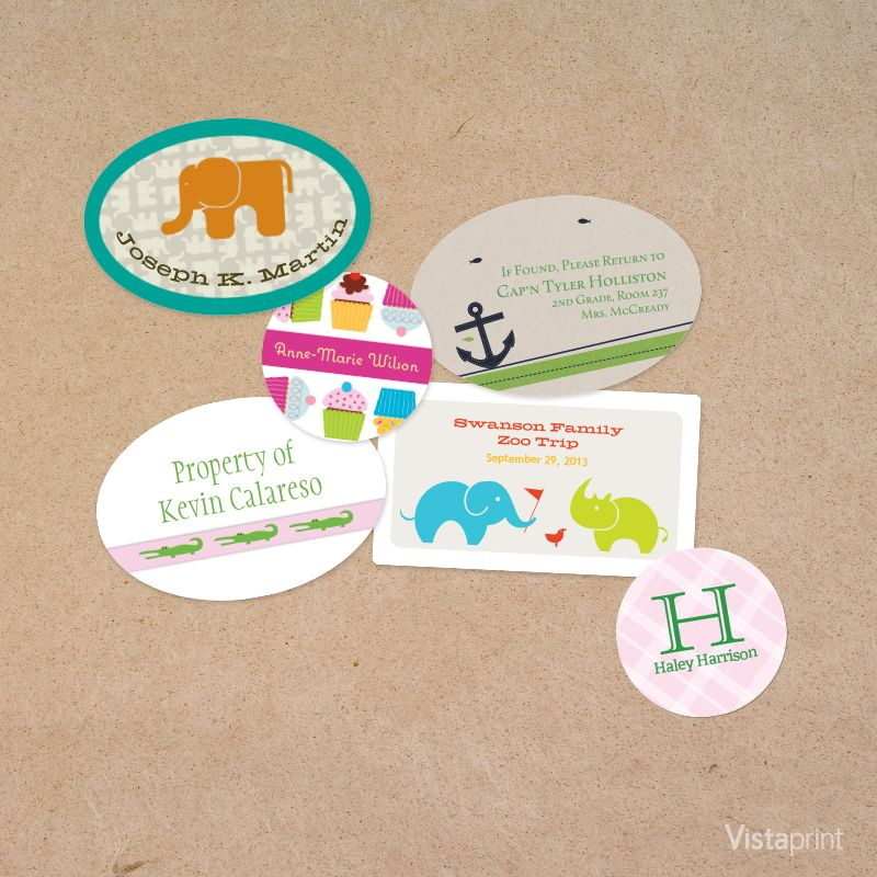 Custom stickers for back to school vistaprint