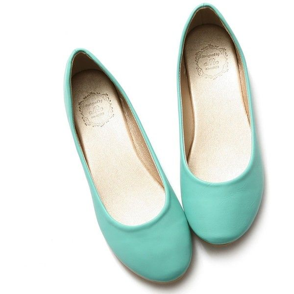 c85b98226d810 Ollio Women's Shoe Ballet Basic Light Comfort Low Heel Flat ❤ liked ...