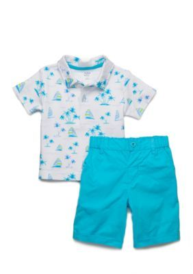 02b58eeb13 Crown & Ivy™ Boys Infant 2-Piece Sailboat Shorts Set | Products ...
