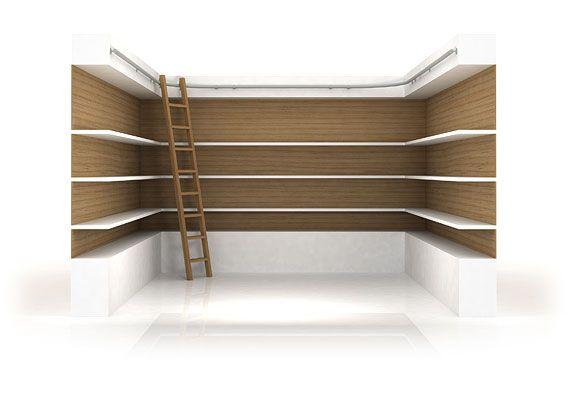 Exceptional Oak Mezzanine Ladders   Bespoke Library Ladder   Rolling Library Ladder