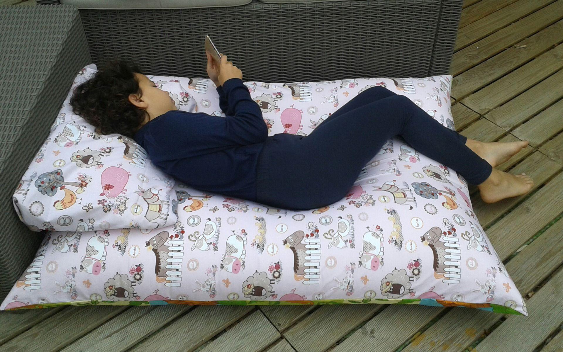 grand coussin pouf de sol pour b b enfant ptibidi motif. Black Bedroom Furniture Sets. Home Design Ideas
